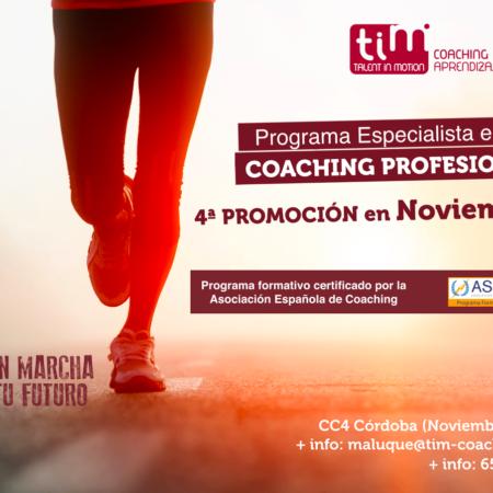 Programa Especialista en Coaching Profesional certificado por ASESCO
